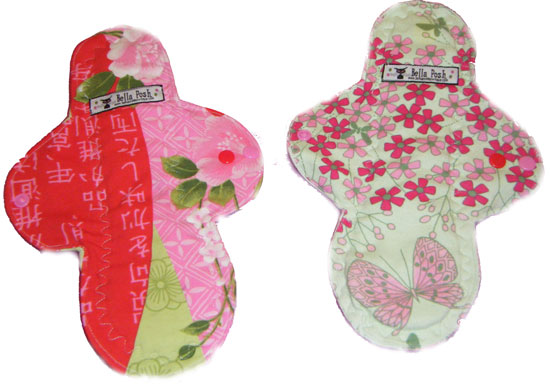 Asian Printed Knit Cloth Pad-