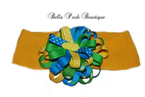 Beach Flower Bow-flower bow, interchangeable, headband, flower, bow