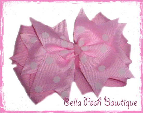 Boutique Spikes-boutique bow, spikes, pink, color, size