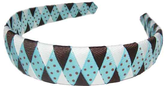 Diamond Dots Espresso-diamond espresso, woven headband