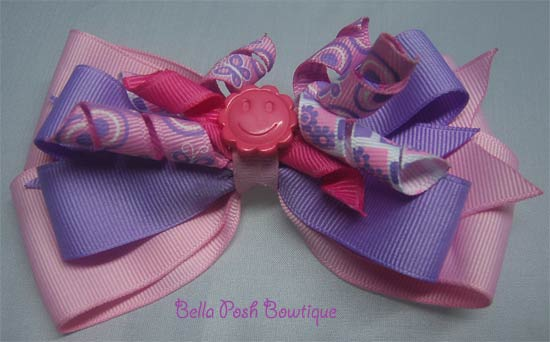 Pink Purple Layered Bow-bow