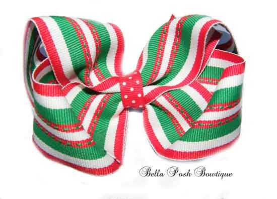 Holiday Super Traxx Large Boutique Bow (Many other Preppy Style)-Boutique Bow, bow
