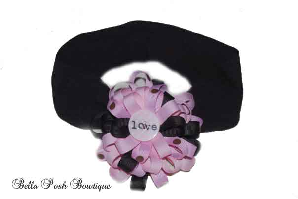 Love Flower Bow Headband-Flower Bow, Interchangeable Headband, flower