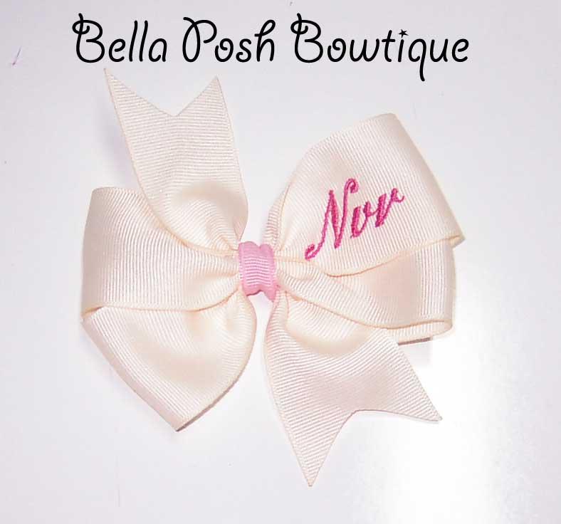 Monogrammed Pinwheel Bow-pinwheel, bow, pinwheel bow, knot, pinwheel knot