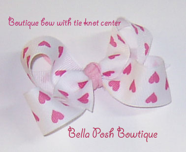 Pink Hearts Boutique Bow-Boutique Bow