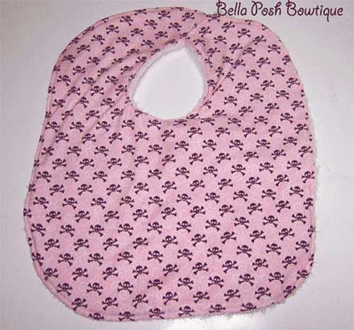 Pink Skull Bib-Bib, pink skull