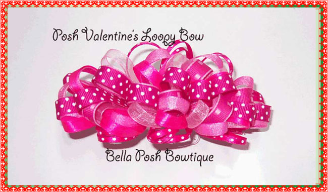 Sweet Loopy Bow-Loopy bow, valentines bow, bow