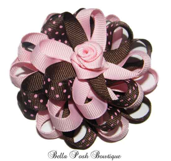 Rose Princess Flower Bow-headband bow, rose bow, flower rose bow, flower headband