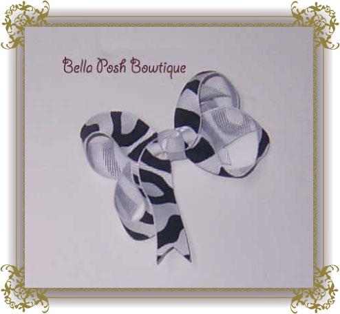 Zebra Bow-zebra bow