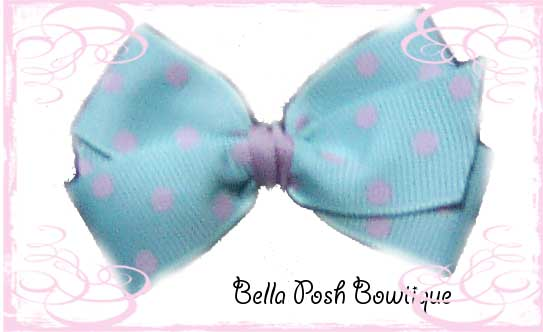 Itty Bitty & Bitty Classic Boutique Bow - Colored Polkas-polka, bow, colored bow