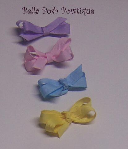Set of 4 Itty & Bitty Bows-bitty bow, newborn bow