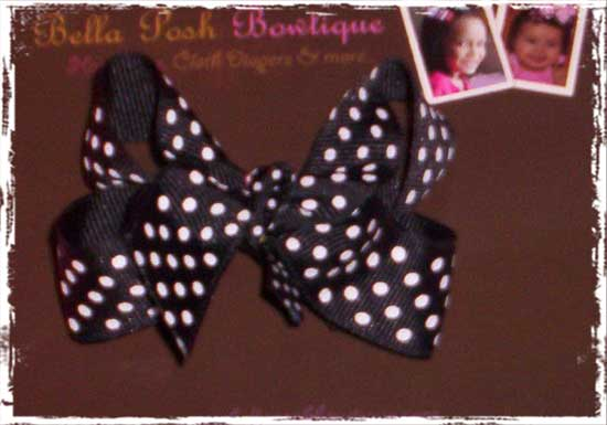 Confetti Dots Bow-confetti dots, ribbon, bow, basic bow