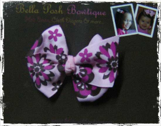 Biggy Classic Boutique Bow - Print Ribbons-color, bows, printed bow, baby bow, big bow