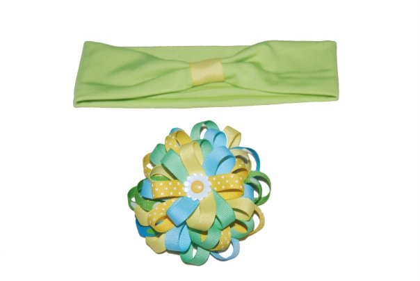 Daisy Flower Bow-daisy flower bow, bow, flower bow