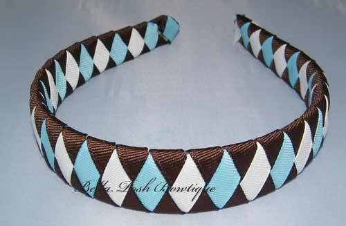 Espresso Diamond Woven Headband-woven headband