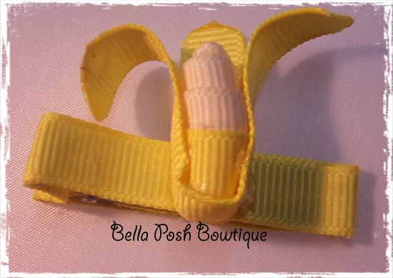 Banana Bow Clippie-banana bow