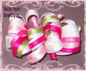 Infant loopy bow-infant, loopy bow, bows, aligator clip, hair gripper