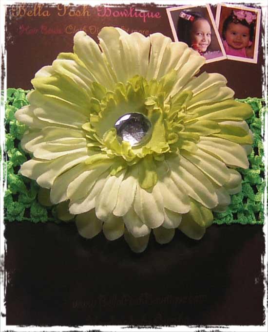 Lime Flower Headband-flower headband, flower