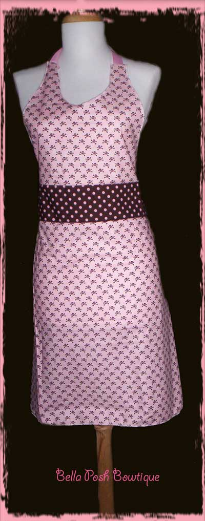 Pink Skull Apron-