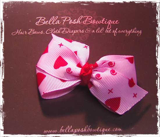Pinwheel Hearts Baby Bow-baby bow, pinwheel bow, pinwheel, bow