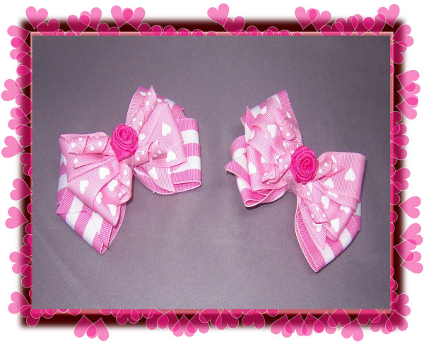 Gorgeous Boutique Rose Center-Valentines bow, bow, hair bow, gift bow