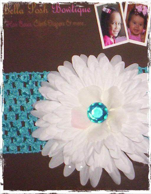 Sapphire Flower Headband-headband, flower, daisy,