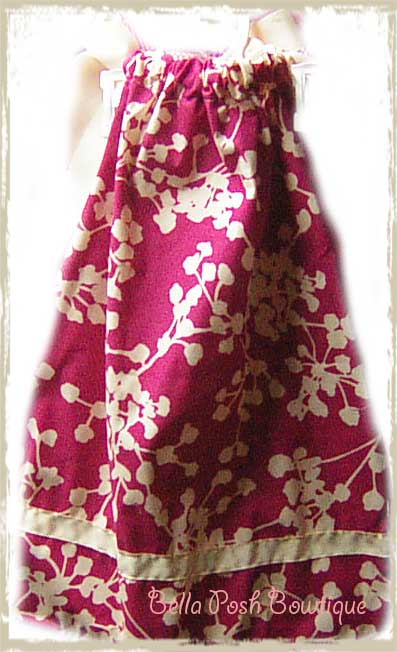 Pink Coriander Flower Pillowcase Dress-dress, pillowcase dress, beautiful, girl, fabric, size