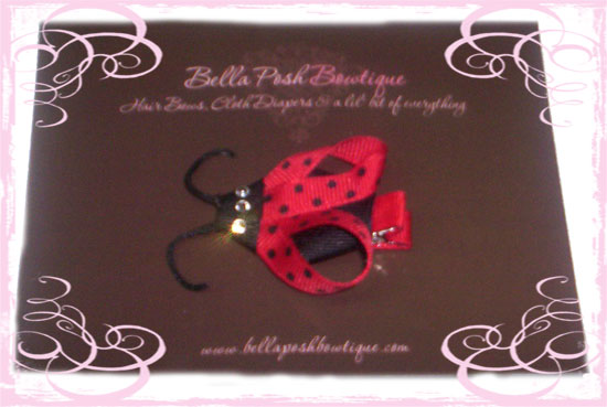 Sophisticated Ladybug-ladybug, sophisticated, bug, bow, ladybug bow, crystal, bling