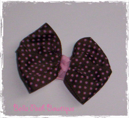 Big Classic Boutique Baby Bow - Polka/Swiss Dot-baby bow, hair bow, small bow