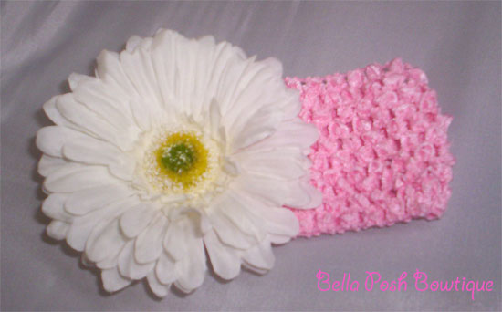 Flower Headband - White Flower-