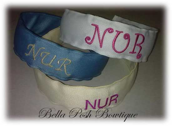 Name that Headband - Monogrammed Headband-monogram bow, monogram headband, monogram, headband, bow