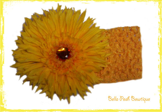 Spidey Yellow Daisy Headband-spider daisy, flower headband